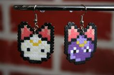 Sailor Moon Artemis and Luna Perler Bead Sprite by WhiteMageInc, $3.00