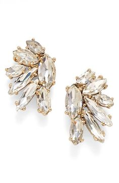 Marchesa Crystal Cluster Stud Earrings available at #Nordstrom
