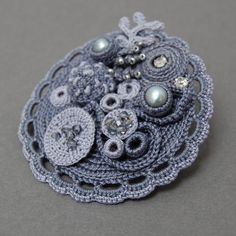coral inspired brooch