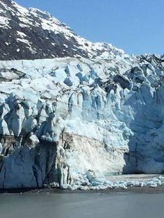 Glacier Bay, Alaska - Sunshine revealing brilliant blue
