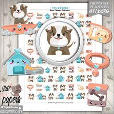 Dog Stickers, Planner Stickers, Kawaii Stickers, Planner Accessories, Staffordshire Stickers, Bull Terrier Stickers, Bulldog Stickers, Puppy