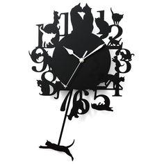 壁掛け時計 Cat Lover Gifts, Cat Lovers, Cat Clock, Cat Watch, Mini Albums, Recycling, Applique, Crafty, Clocks