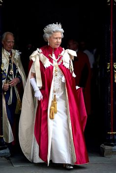 Queen Elizabeth II attending a service for the Order of the Bath at Westminster Abbey.