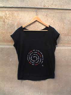 "Black T shirt  / Hand Painted  "" Believe in Good ...Give Love "". $29.00, via Etsy."