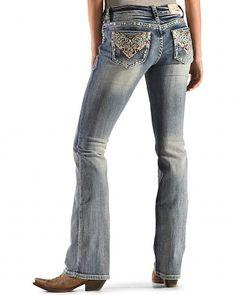 Grace in LA Aztec Sunrise Bootcut Jeans - Sheplers