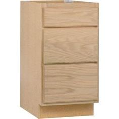 Null Assembled 18x34 5x24 In Base Kitchen Cabinet With 3 Drawers In Unfinished Oak