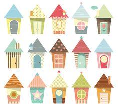 Baby+Houses+Clip+Art++high+resolution+by+idaDigitalDrawing+on+Etsy,+$4.00