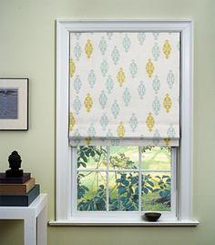 flat inside window roman shades by Dwell