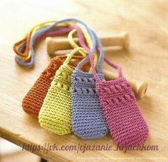 Delicadezas en crochet Gabriela: Porta celular en ganchillo