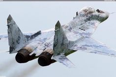 Slovakian MiG-29 in its new digital camouflage