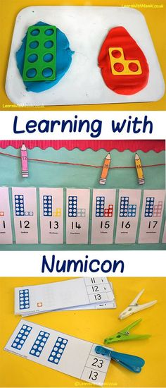 Numicon is my favourite maths resource for learning about and visualising numbers. So versatile, have a look at all the things you can do! Year 1 Maths, Early Years Maths, Early Math, Numicon Activities, Literacy And Numeracy, Number Activities, Science Activities, Maths Display, Phonics Display Ks1