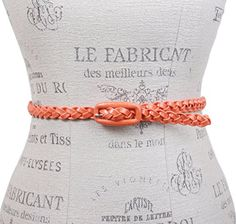 1/2 Inch Braided Skinny Belt Size: M/L - 36 Color: Orange Made by #beltiscool Color #Orange. Skinnies are great!. You can mix and match. Add as many as you like.. Easy way to change your styling.