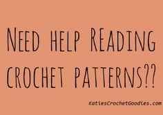 Tips for reading crochet patterns on Katie's Crochet Goodies ༺✿ƬⱤღ  https://www.pinterest.com/teretegui/✿༻
