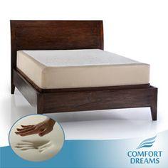 Comfort Dreams Select A Firmness 11 Inch Queen Size Memory Foam Mattress Firm Beige White