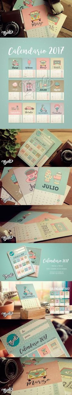 Munki Diseños Imprimibles: Calendario 2017
