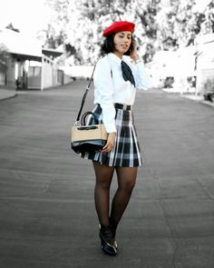 Holiday Style now on the Bug: Tartan and frenchmod style #smilestyle #ootd #tartan #plaid #frenchstyle #howtowearplaid #schooluniform