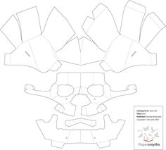 Another Pop Up Skull   Template Example, No Instructions · Paper Mask3d ...