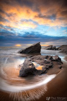 Boiler Beach, Whitsand Bay, South East Cornwall, UK. Photograph by Paul Morgan