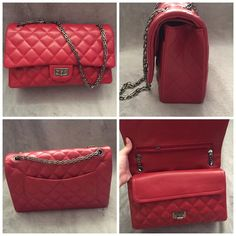 Red quilted reissue handbag Brand new top of the line quality Bags Shoulder Bags