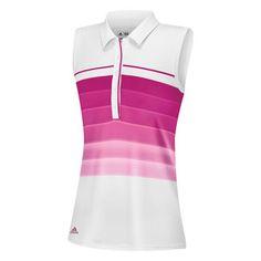 36f5f42f1ecd1 Adidas Junior Girls Puremotion Gradient Stripes Sleeveless Golf Tennis Shirt  with hydrophilic finish!
