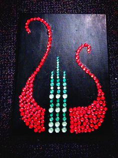 Alpha Chi Omega lyre jewel craft  By: Hannah Shaheen
