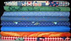 Vintage Fabric Fat Quarter Bundle Edna by CurlicueCreations, $8.00