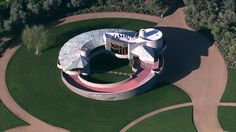 Aerial view of the David & Gladys Wright house, Phoenix, AZ. Designed by Frank Lloyd Wright. Photo by ABC15 reporter, Troy Barrett, Taken February, 2015