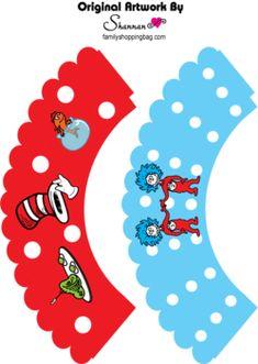 Cupcake Wrappers, Dr Seuss, Favor Box - Free Printable Ideas from Family Shoppingbag.com