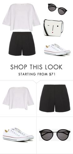"""""""Untitled #226"""" by aneta200 ❤ liked on Polyvore featuring Helmut Lang, TIBI, Converse, Yves Saint Laurent and Lulu Guinness"""