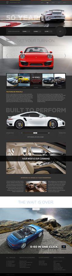Cool Automotive Web Design on the Internet. Porsche. #automotive #webdesign…
