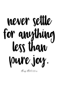 never settle for anything less than pure joy. @amybakeshealthy