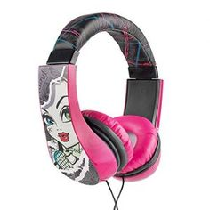 Headphones for Kids Monster High Kid Safe 2 Children Friendly Headphones Volume…