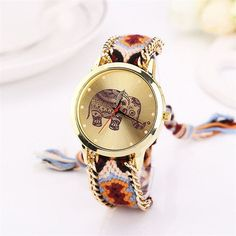 Watches Women Men Watch relogio feminino erkek saat Women Elephant Pattern Weaved Rope Band Bracelet Quartz Dial Wrist Watch 45*
