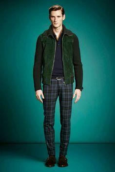 Gucci plaid pants..erath dark tones.