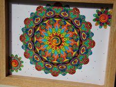 Tablou lemn Mandala Mandala, Crafts, Manualidades, Handmade Crafts, Craft, Arts And Crafts, Artesanato, Handicraft, Mandalas