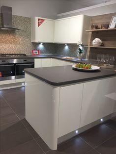 Wren Kitchens - cream handleless - Preston showroom - self repairing worktop Wren Kitchen, Handleless Kitchen, New Kitchen Designs, Kitchen Decor, Kitchen Ideas, Home Improvement, Interior Decorating, Kitchen Inspiration