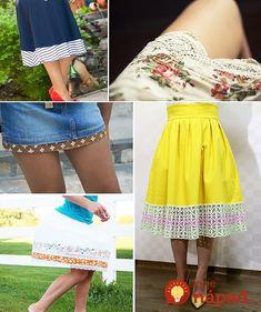 Ak je vám oblečenie malé, alebo ho jednoducho zmeniť a upraviť, tieto tipy sa vám určite hodia. Dokonca, väčšinu z nich zvládnete aj bez skúseností do šitím.