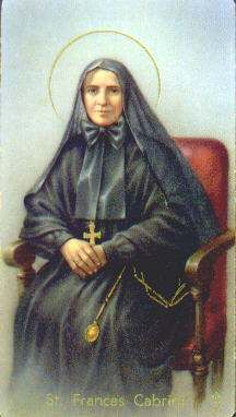 Saint Frances Xavier Cabrini, the first American citizen to become a saint & patron saint of nurses.