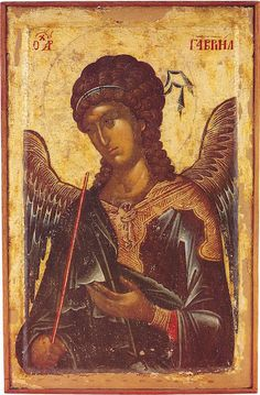 Eastern orthodox icon of Archangel Gabriel, icon of 14 cent. Byzantine Icons, Byzantine Art, Religious Icons, Religious Art, St Michael, Russian Icons, Religious Paintings, My Demons, Sacred Art