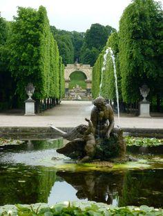 Schlosspark at Schonbrunn  Vienna, Austria