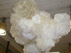 anthro display - paper poms (other options besides using chicken wire) maybe cheaper and quicker