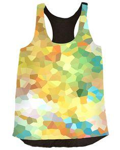 #art #fashion #top #tank #blouse #women #abstract #vividly