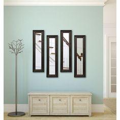 Rayne Mirrors American Made Rayne American Walnut Mirror Panels Set of 4 Size: 14 X 28