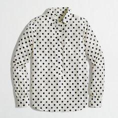Factory two-pocket denim shirt - washed shirts - Women - J.Crew Factory