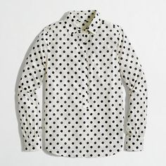 Love me a good polka-dot shirt!! Thinking I need to add this pop-over version to my closet ASAP!