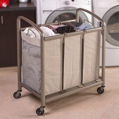 3 Bag Slanted Handle Laundry Sorter