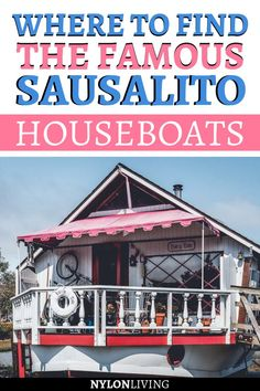 The Sausalito houseboats are little architectural marvels and I absolutely love them! A walking tour of the piers where the houseboats are docked is one of the cool things to do in Sausalito, California. Find out where to go and how to get there. Usa Travel Guide, Travel Usa, Travel Guides, Travel Tips, Travel Articles, Travel Advice, Sausalito Houseboat, Sausalito California, Sonoma California