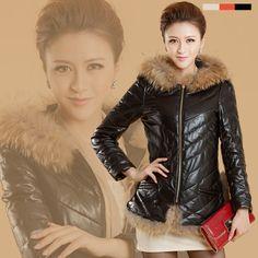 2013, winter, raccoon fur, hooded, leather sheep skin, women jackets, zipper leather jacket, ladies fashion jacket