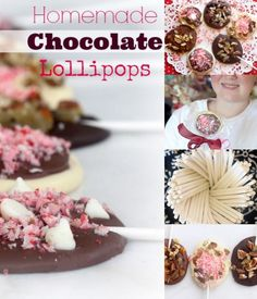 How to Make Homemade Chocolate Lollipops for kids AND adults. So easy to make for DIY Christmas gifts, plus you'll want to make extras to keep for yourself! | Recipe at Spicy RD Nutrition http://www.eastewart.com | Gluten Free, Vegan and Low FODMAP options.