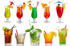 Alcoholic Drinks, Cocktails, Blue Curacao, Mojito, Hurricane Glass, Smoothie, Food And Drink, Tableware, Party